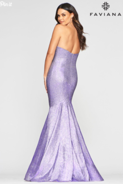 Faviana Metallic Lavender Gown - Alternate List Image