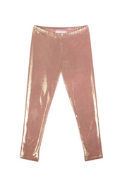 Paper Wings Metallic Leggings - Front cropped
