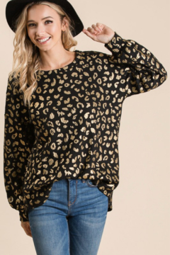 Shoptiques Product: Metallic Leopard Thermal Top