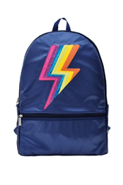 Iscream Metallic Lightning Backpack - Front cropped