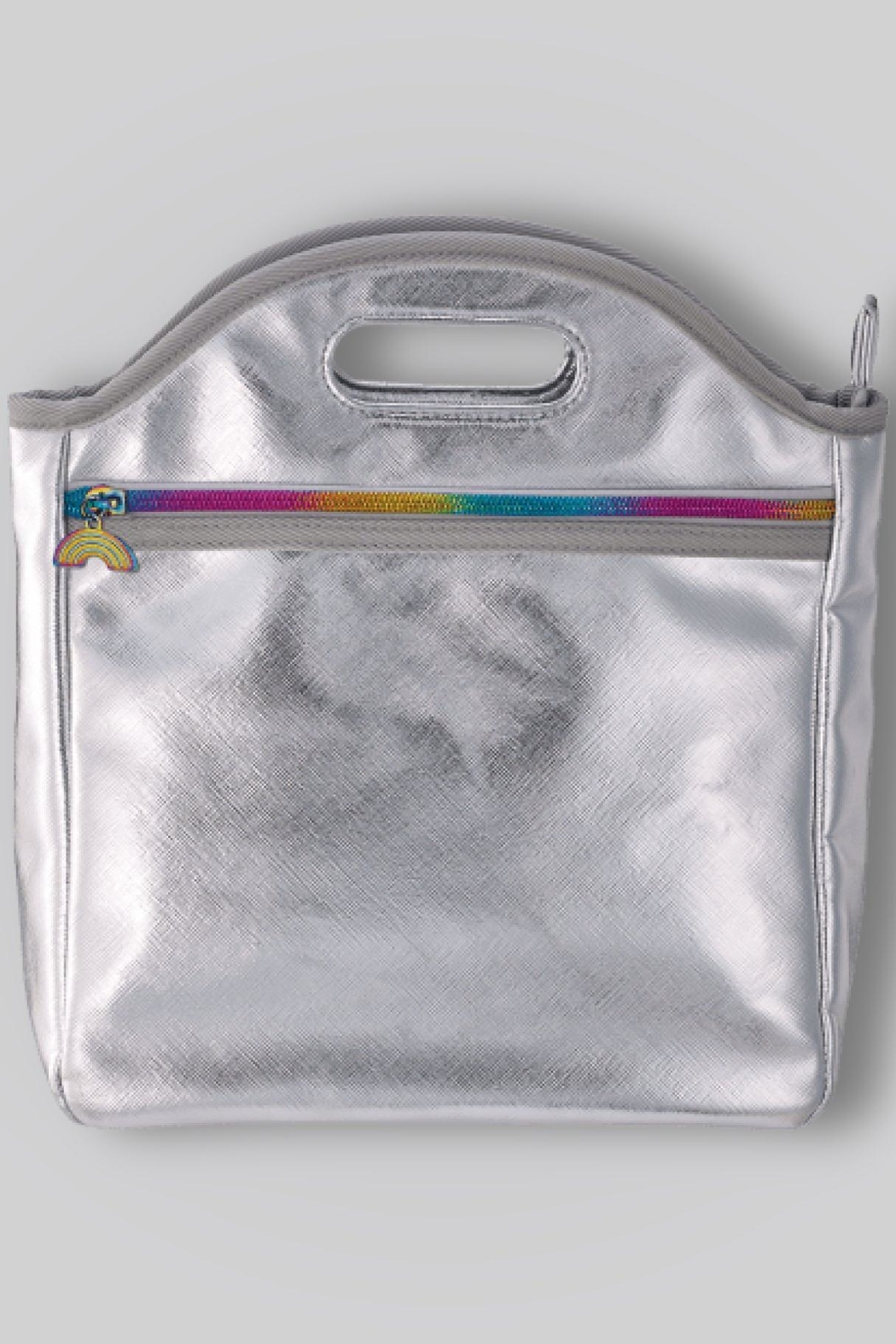 Iscream Metallic Lunch Tote - Front Cropped Image