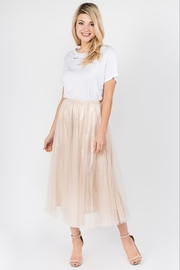 On Twelfth Metallic Mesh Skirt - Product Mini Image