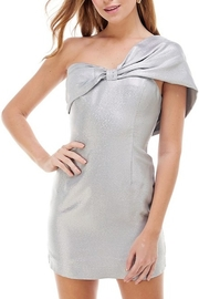TCEC Metallic One Shoulder Dress - Front cropped