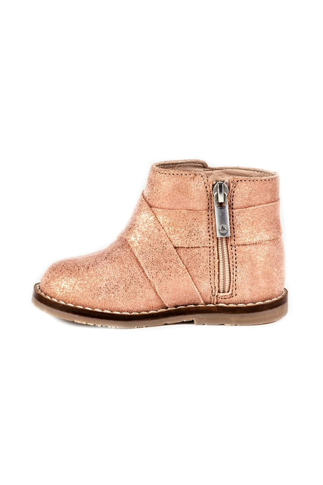 Mayoral Metallic-Pink-Girls-Leather-Ankle-Boots - Side Cropped Image