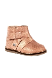 Mayoral Metallic-Pink-Girls-Leather-Ankle-Boots - Front cropped