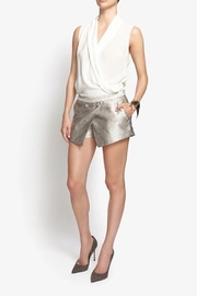 JENNI KAYNE Metallic Python Button Detail Asymmetric Overlay Skort - Product Mini Image