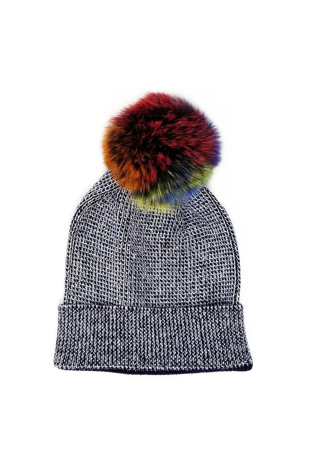 Lets Accessorize Metallic Rainbow Beanie - Main Image