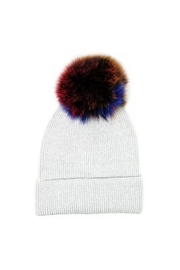 Lets Accessorize Metallic Rainbow Beanie - Front cropped