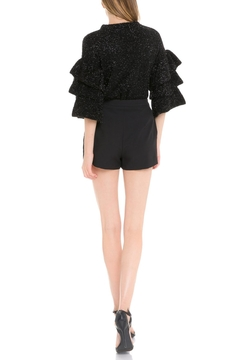 Endless Rose Metallic Ruffle-Sleeve Sweater - Alternate List Image