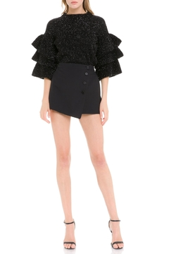 Endless Rose Metallic Ruffle-Sleeve Sweater - Product List Image