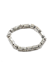 Lets Accessorize Metallic-Shell Stretch Bracelet - Product Mini Image