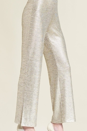 Clara Sunwoo Metallic Side-Slit Pant - Front full body