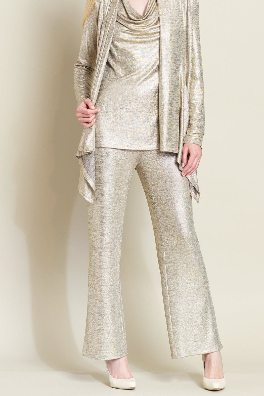 Clara Sunwoo Metallic Side-Slit Pant - Main Image
