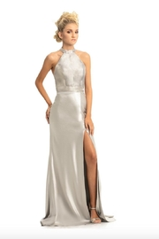 Johnathan Kayne Metallic Silver Gown - Product Mini Image