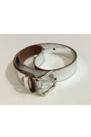 DiJore Metallic silver leather belt - Product Mini Image