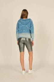 Vintage Havana  Metallic Star Hoodie - Front full body