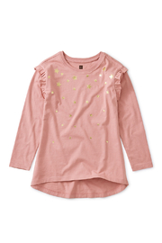 Tea Collection Metallic Star Tunic Top - Front cropped