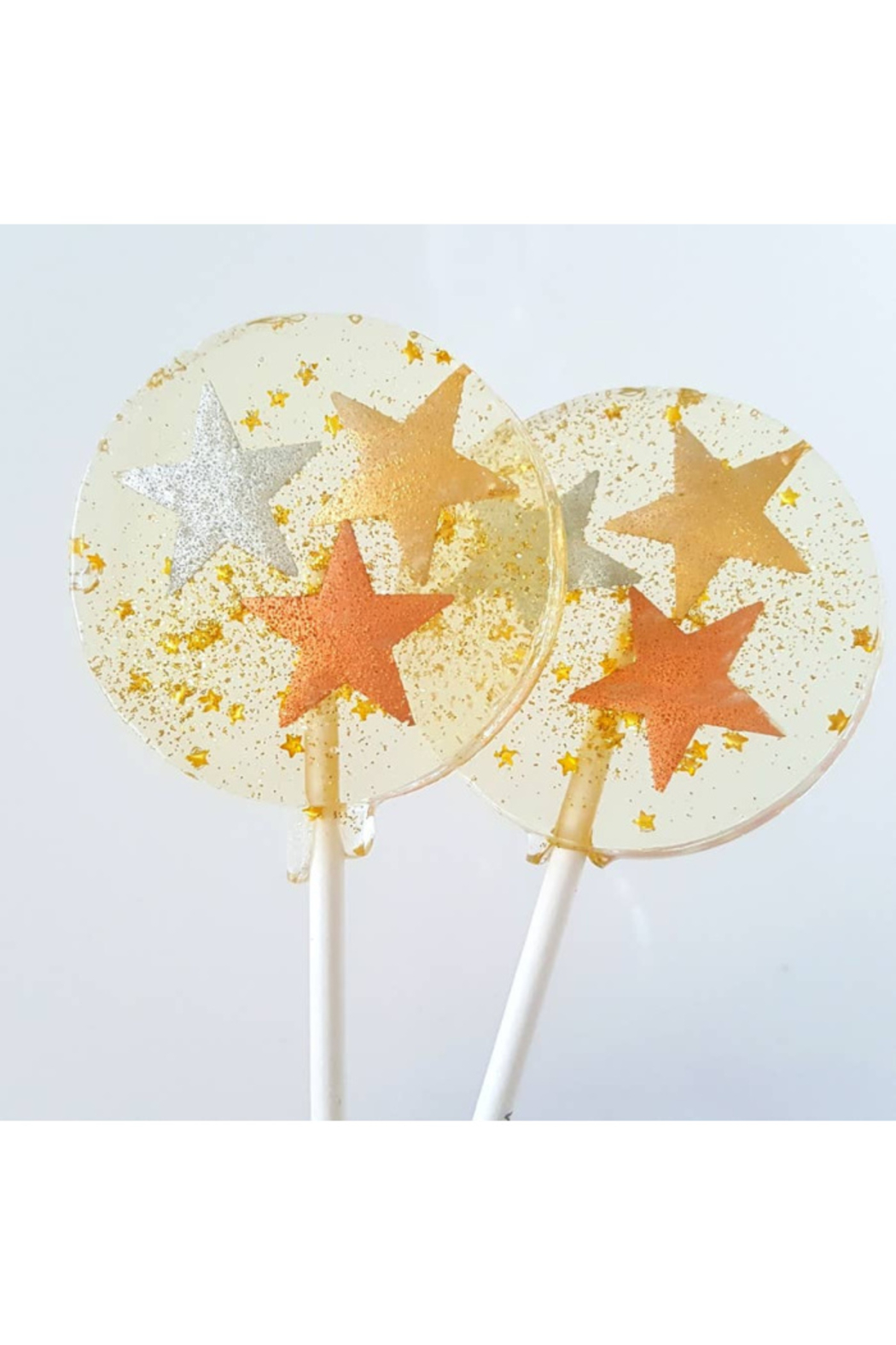 The Birds Nest METALLIC STARS LOLLIPOPS - Front Cropped Image