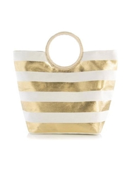 Shiraleah Metallic Stripe Tote - Product Mini Image