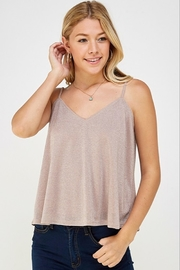 Caramela Metallic Tank Top - Product Mini Image