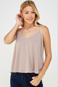 Caramela Metallic Tank Top - Product List Image