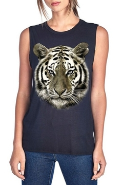 Color Bear Metallic Tiger Face Tank - Alternate List Image