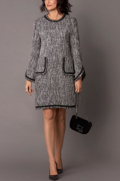 Hilary Radley Metallic Tweed Dress - Alternate List Image