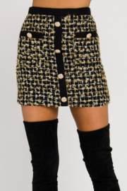 endless ro Metallic Tweed Skirt - Product Mini Image