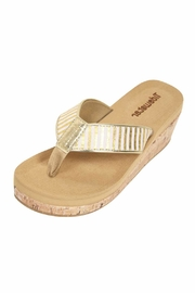 Tidewater Sandals Metallic Wedge Sandals - Product Mini Image