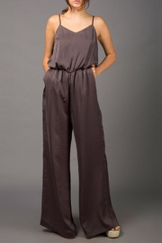 WREN & WILLA Metallic Wide-Leg Jumpsuit - Product Mini Image