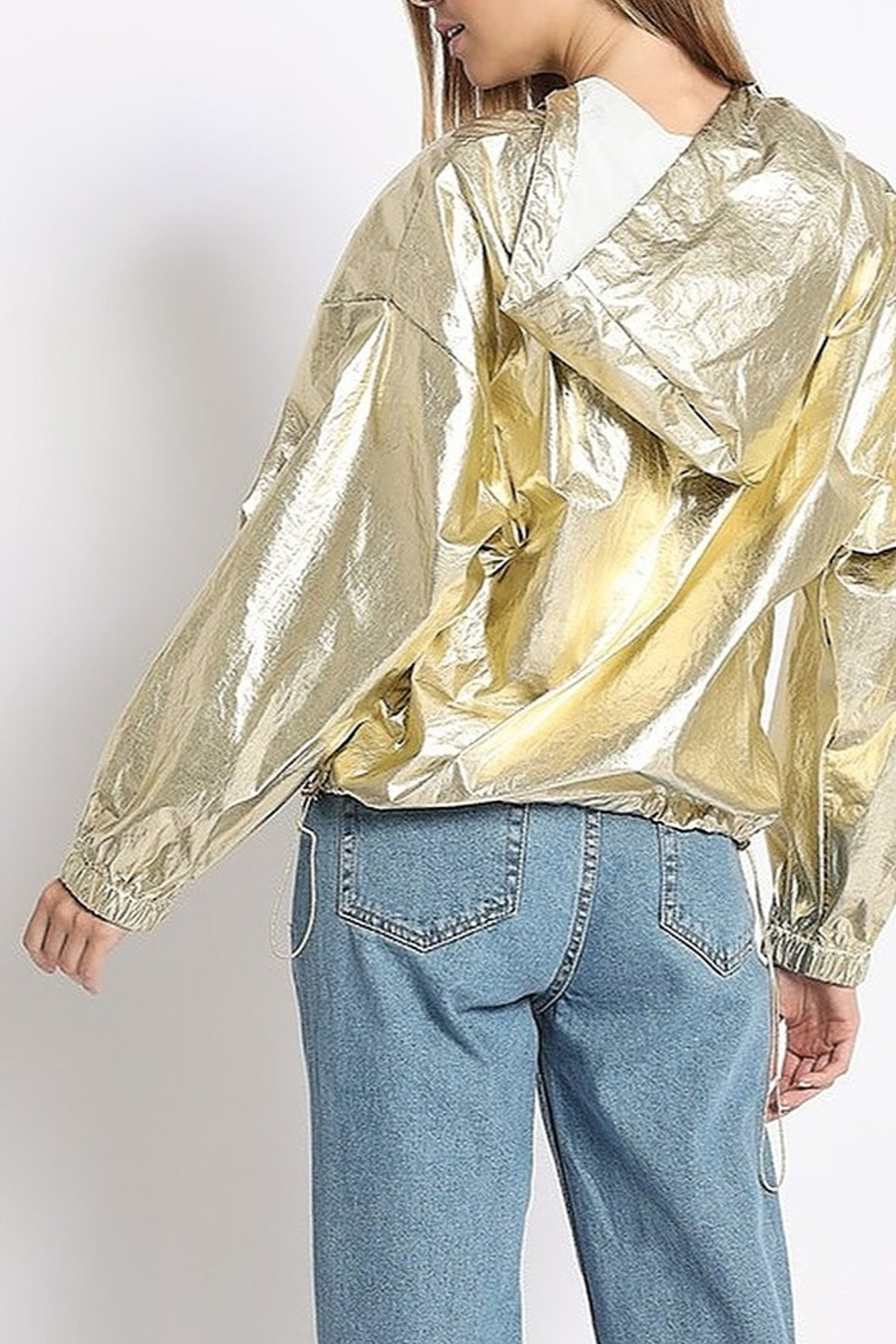 Sans Souci Metallic Wind Breaker - Front Full Image