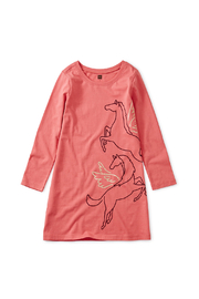 Tea Collection Metallic Wind Horse Dress - Front cropped
