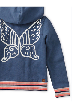 Tea Collection Metallic Winged Zip Hoodie - Alternate List Image