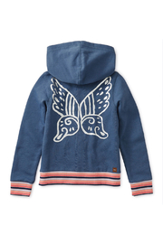 Tea Collection Metallic Winged Zip Hoodie - Side cropped
