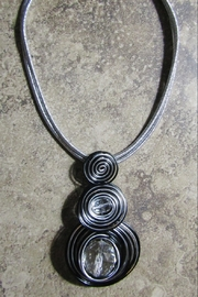 DDFL Import METALLIC WIRED CIRCLES NECKLACE - Product Mini Image
