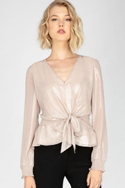 Adelyn Rae Metallic Woven Blouse - Product Mini Image