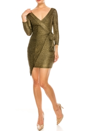 luxxel Metallic Wrap Dress - Product Mini Image