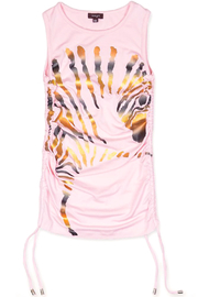 Imoga Metallic Zebra Dress - Front full body