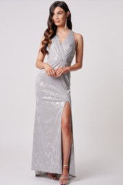 Forever Unique Metallic Zigzag Gown - Product Mini Image