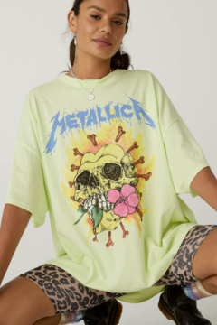 Shoptiques Product: Metallica Flower Skull Tee