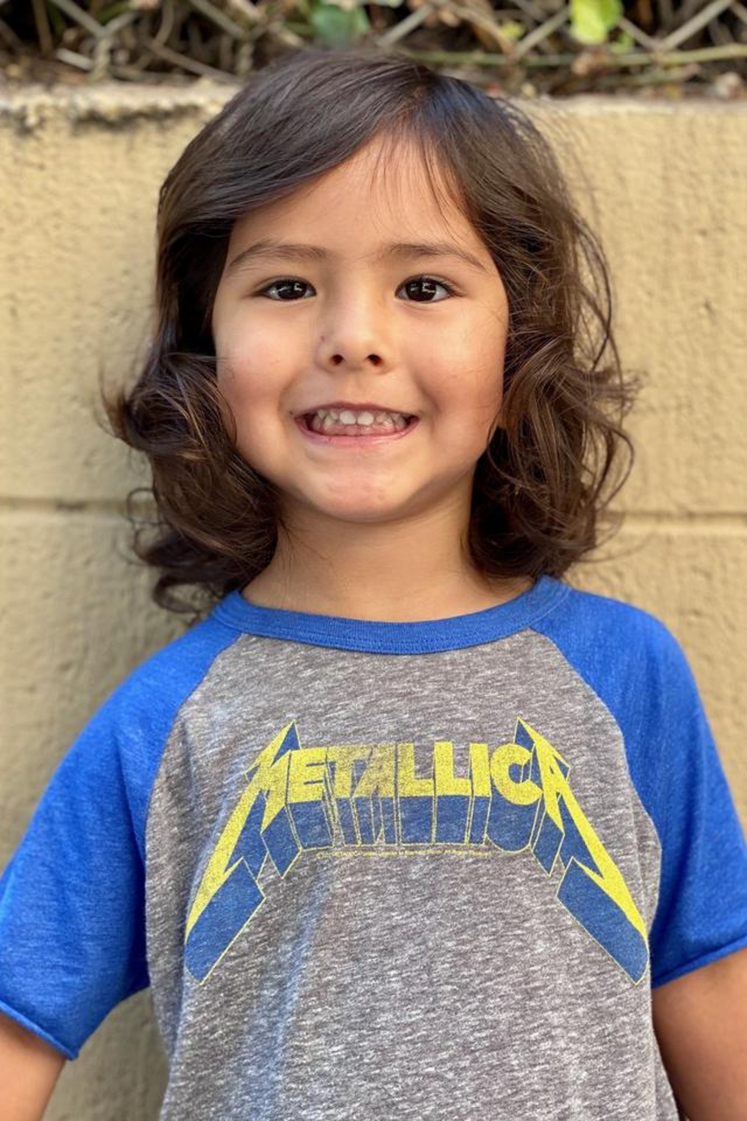 Rowdy Sprout Metallica Raglan - Front Full Image