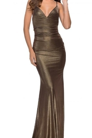 La femme Metalllic Jersey Gown - Product Mini Image
