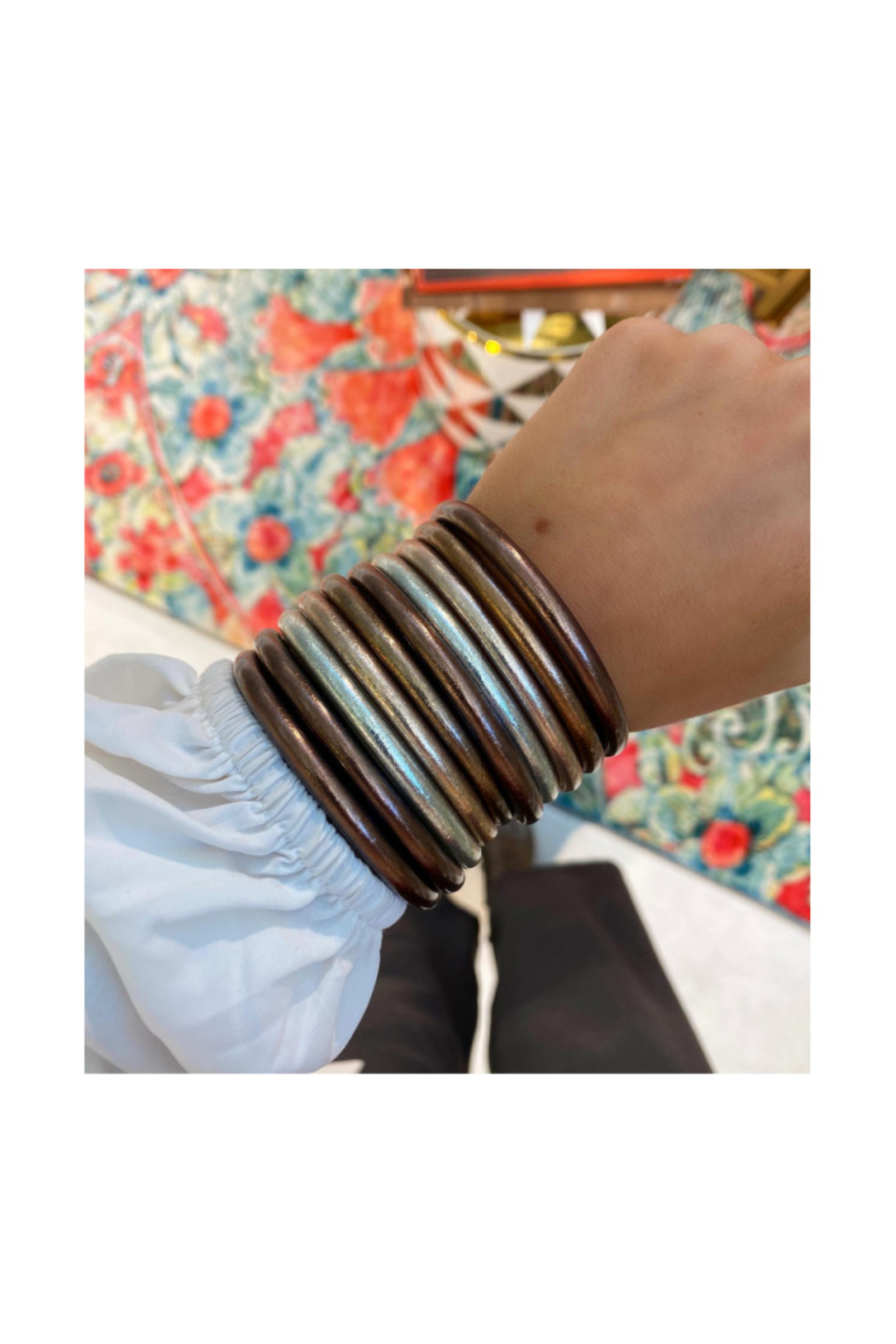 BuDhaGirl METEORITE ALL WEATHER BANGLES - Front Full Image