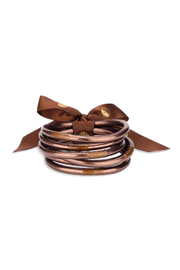 BuDhaGirl METEORITE ALL WEATHER BANGLES - Front cropped