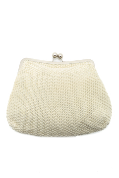 Shoptiques Product: White Knit Fold Clutch