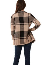 METRIC Plaid Cardigan - Front full body