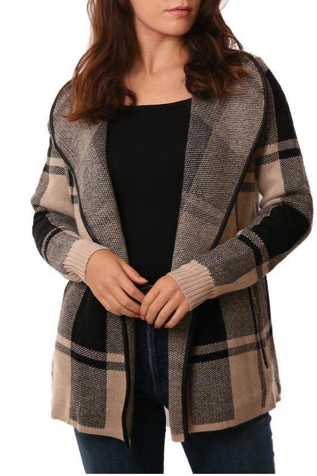METRIC Plaid Cardigan - Main Image