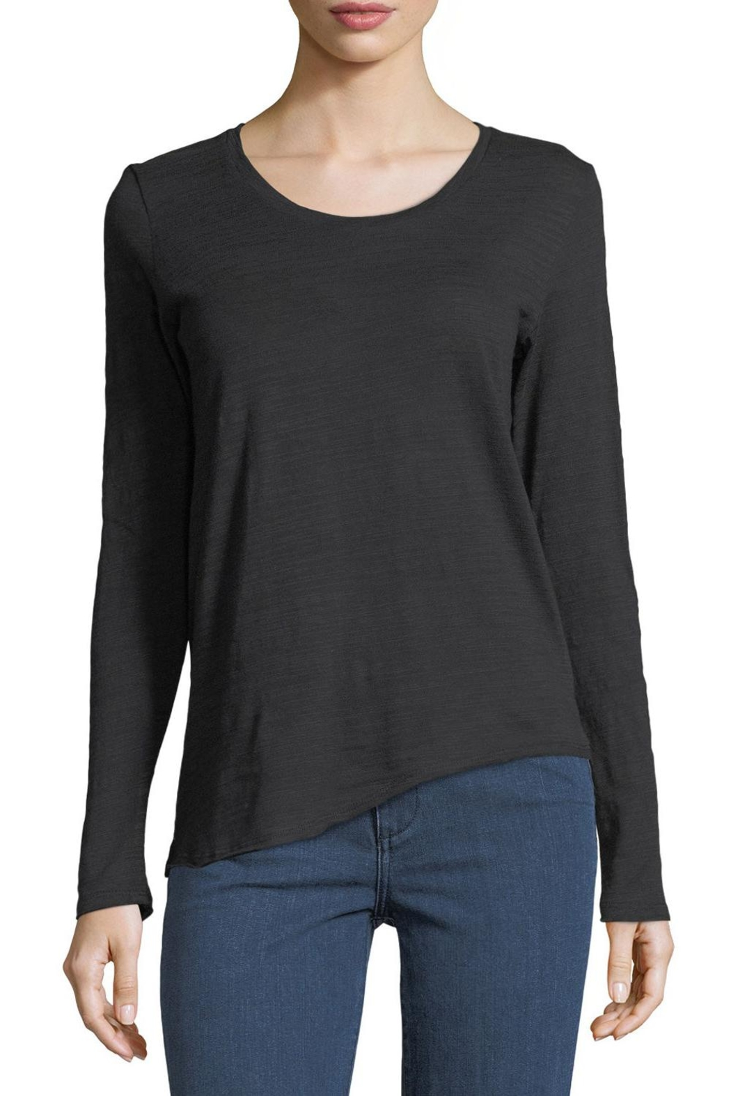 Metric Knits Asymmetric Boat-Neck Tee - Main Image