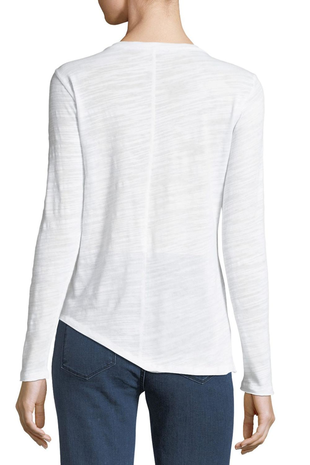Metric Knits Asymmetric Boat-Neck Tee - Front Full Image