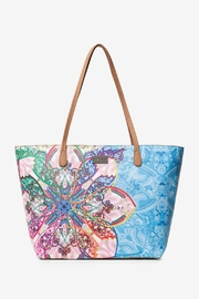DESIGUAL Mexican Cards Capri Zipper Tote - Product Mini Image